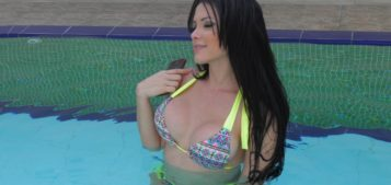 SexyCandy by the swimming pool